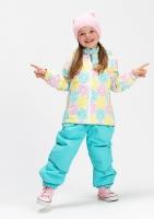 Демисезонный комплект Крокид с утеплителем для девочек цвет мятный