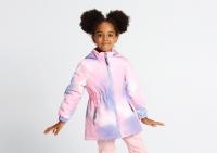 Демисезонная куртка Крокид с утеплителем для девочки цвет сиреневый